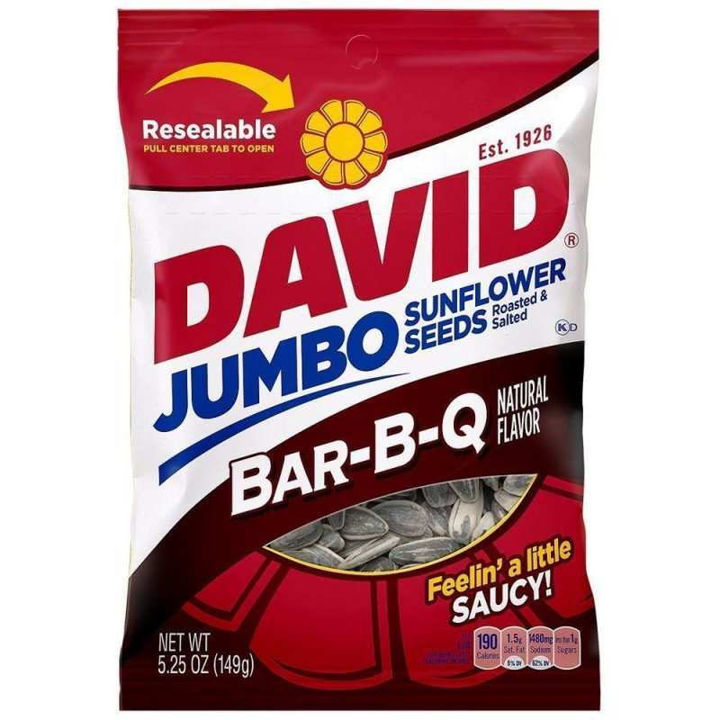 David Jumbo Sunflower Seeds - BAR-B-Q (149g)