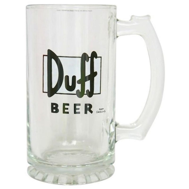die simpsons duff beer bierglas 0 3 liter 3 99 usa drinks. Black Bedroom Furniture Sets. Home Design Ideas
