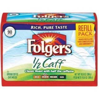 Folgers 1/2 Caff Medium Ground Coffee Refill Pack (306 g)