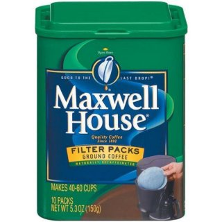 Maxwell House Decaf Original Roast 10 Filter Packs (150g)