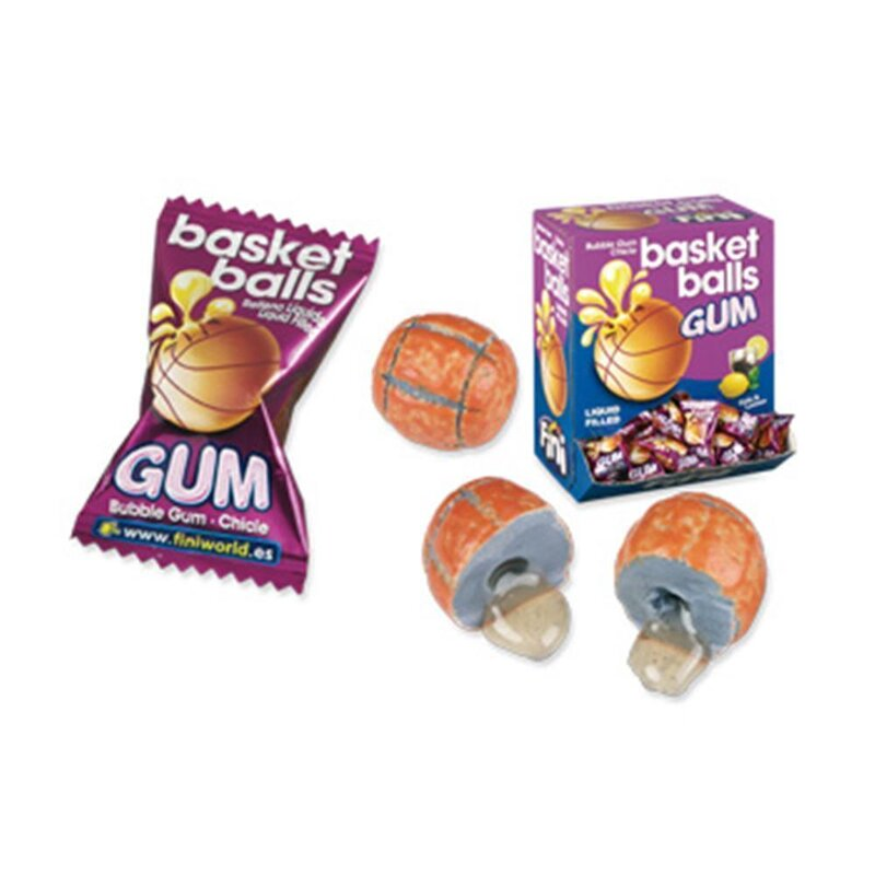 Fini - Basket Ball Bubble Gum Cola & Lemon (200 Stk)