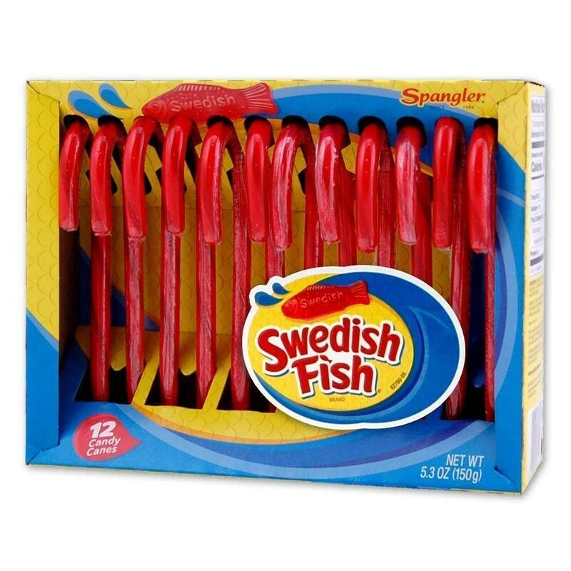 Spangler - Swedish Fish - Candy Canes - 1 x 150g