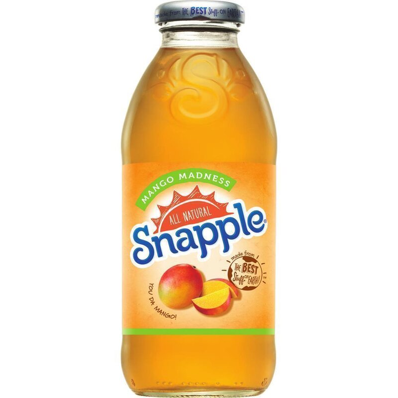Snapple - Mango Madness Tea - Glasflasche - 1 x 473 ml