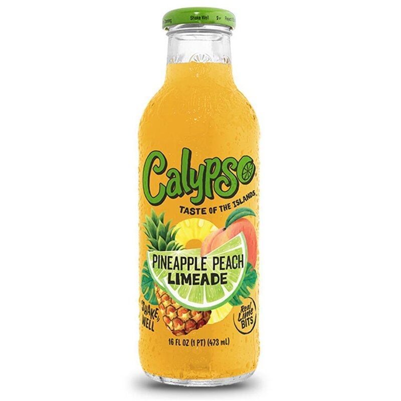 Calypso - Pineapple Peach Limeade - Glasflasche - 1 x 473 ml