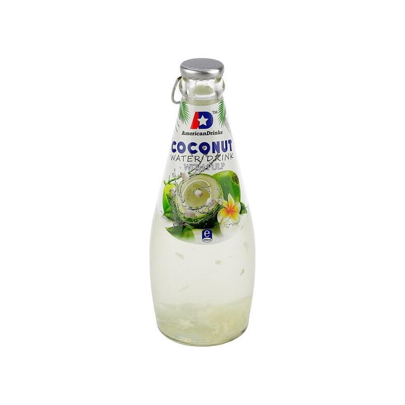AmericanDrinks - Coconut Water with Pulp  - 1 x 290 ml