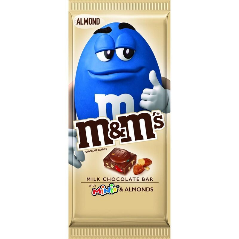 m&ms - Milk Chocolate Bar with Minis & Almonds - 110,6g