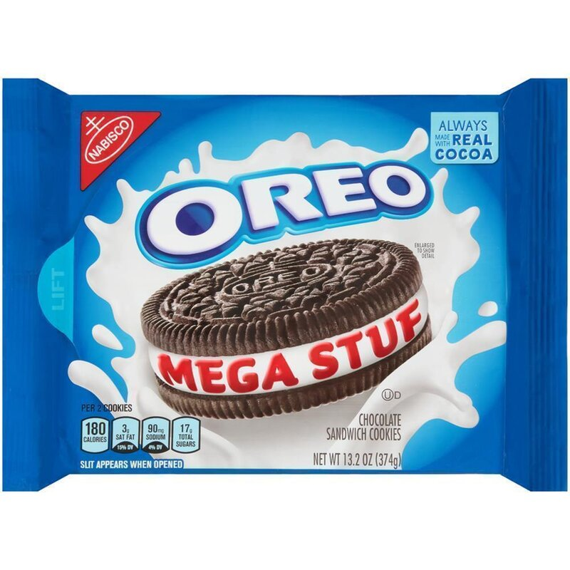 Oreo - Mega Stuf Chocolate Sandwich Cookies - 374g