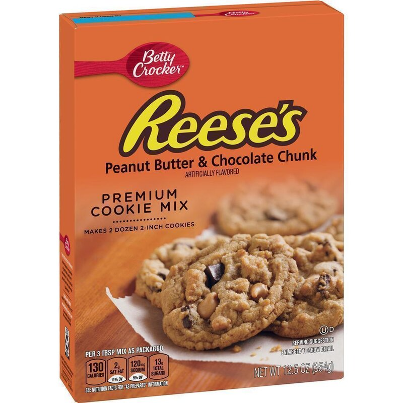 Betty Crocker - Reeses Peanut Butter & Chocolate Chunk Cookie Mix - 354 g