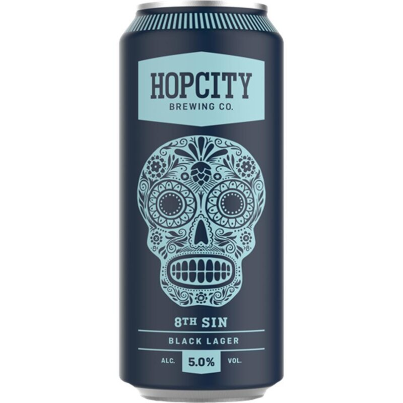 Hopcity - 8th Sin Black Lager - 5% Alc. - 473 ml