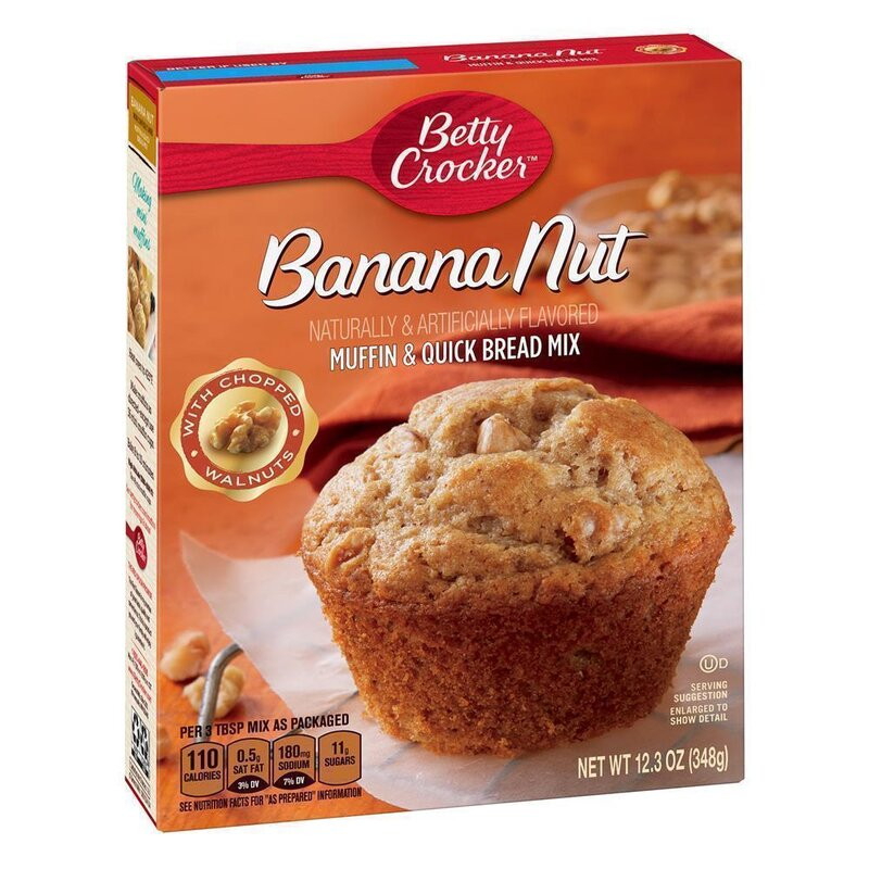 Betty Crocker - Banana Nut Muffin and Quick Bread Mix - 348 g