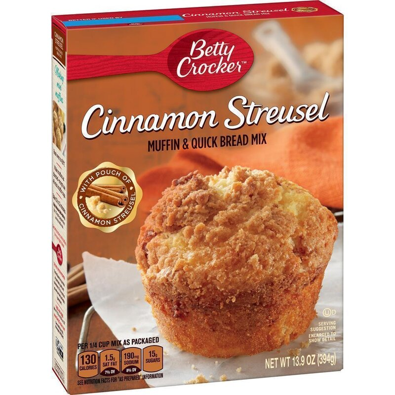 Betty Crocker - Cinnamon Streusel Muffin and Quick Bread Mix - 394 g
