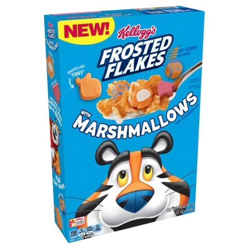 Kelloggs Frosted Flakes Cereal with Marshmallows - 340g