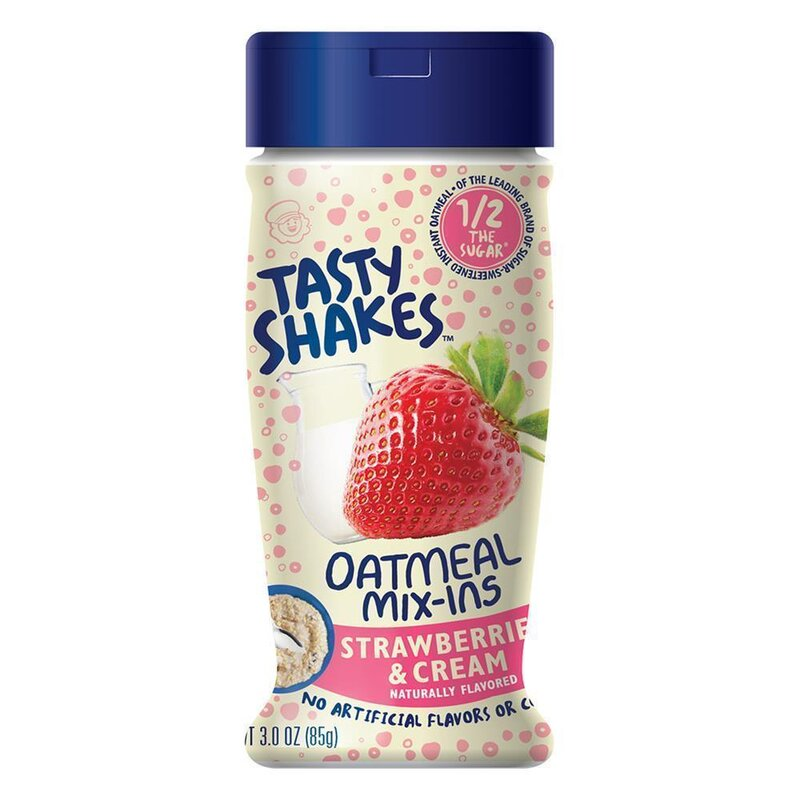 Tasty Shakes Oatmeal Mix Ins - Strawberries & Cream - 85g