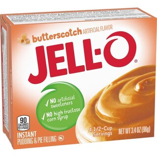 Jell-O - Butterscotch Instant Pudding & Pie Filling - 1 x 96 g
