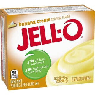 Jell-O Banana Cream Instant Pudding & Pie Filling (96g)