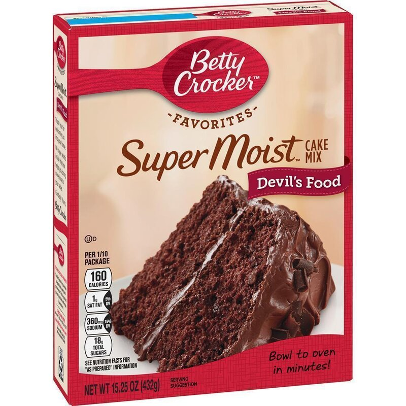 Betty Crocker Super Moist Devils Food Cake Mix 432g Usa