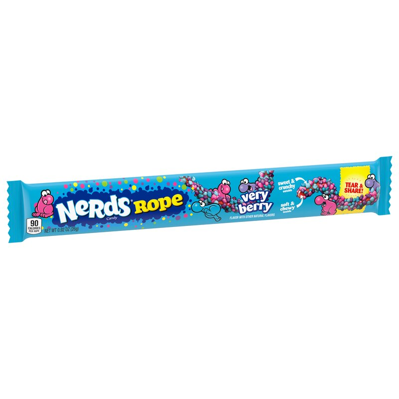 Wonka Nerds Verry Berry Rope - 1 x 26g