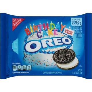 Marvelous Oreo Birthday Cake Flavor Creme Chocolate Sandwich Cookies 432G Funny Birthday Cards Online Alyptdamsfinfo