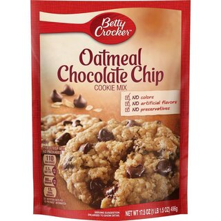 Betty Crocker Oatmeal Chocolate Chip Cookie Mix (496g)