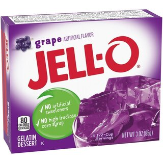 Jell-O - Grape Gelatin Dessert - 1 x 85 g