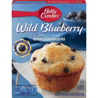 Betty Crocker Premium Muffin & Quick Bread Mix - Wild Blueberry  (479 g)