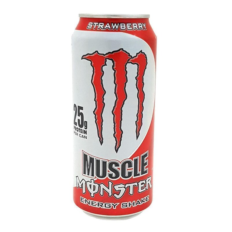 monster usa muscle energy shake strawberry 1 x 443 ml 5. Black Bedroom Furniture Sets. Home Design Ideas