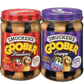 Smuckers Goober Variety Pack ( Grape & Strawberry) - Glas (2x 510g)
