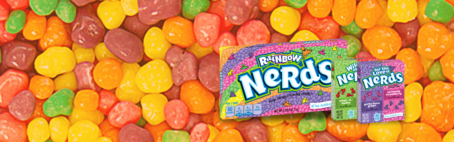 Wonka Nerds Rainbow, Strawberry Grape and mor